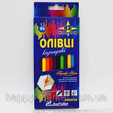 Карандаши цветные шестигранные 12цв JOSEF OTTEN Профи- Арт 9403-12