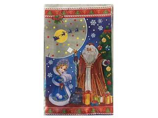 Пакет фольгированный для конфет 25см 40см Дед Мороз и Снегурочка 100 шт
