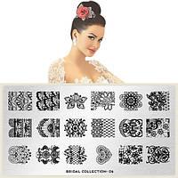 Пластина для стемпинга Bridal Collection 06