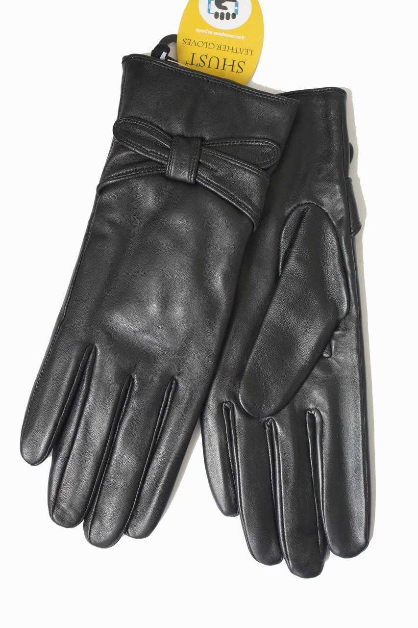 Женские кожаные черные перчатки Сенсорные Большие 10W-338s3