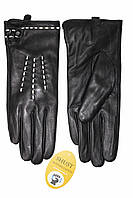 Женские кожаные черные перчатки Сенсорные Большие LYYN-1671s3, фото 1