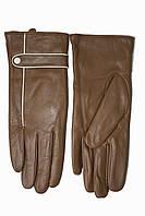 Женские кожаные Коричневые перчатки Shust Средние LYNN-1692s2, фото 1
