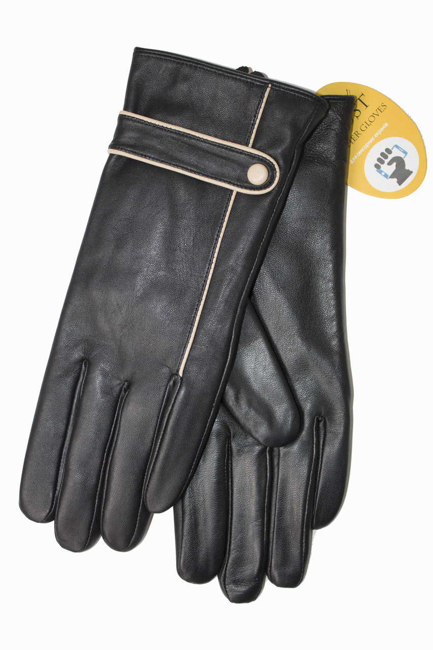 Женские кожаные черные перчатки Сенсорные Маленькие LYNN-1691s1