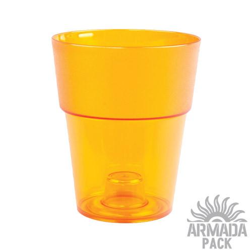"""Кашпо для цветов """"Коло"""", D135 мм, оранжевое"""