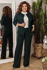 Стильный женский костюм из костюмной ткани средней плотности, №106, бутылка, 48-58р., фото 2