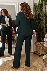 Стильный женский костюм из костюмной ткани средней плотности, №106, бутылка, 48-58р., фото 3