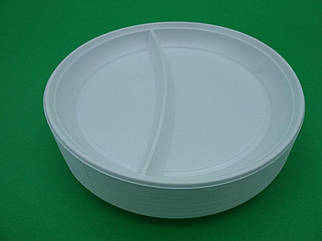 Тарелка одноразовая 205мм Андрекс 2секц 100 шт