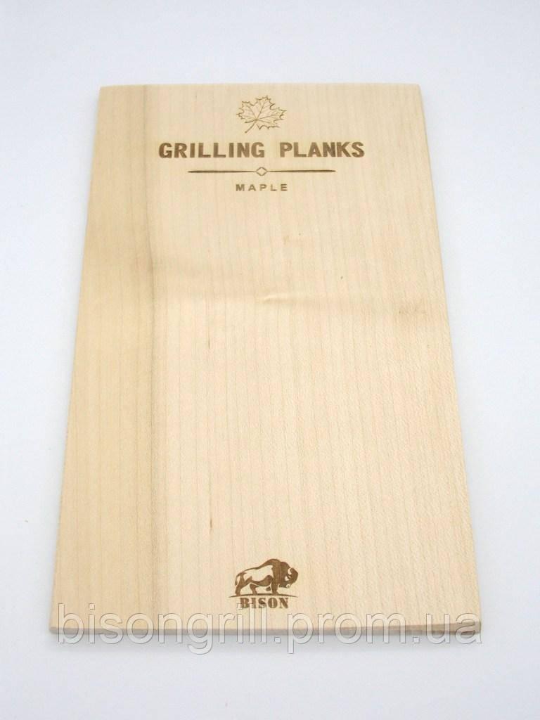 Кленовая гриль-доска BisonGrill (2 шт)  25х15 см