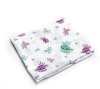 Пеленка муслиновая 100х120 см Листики разноцветные