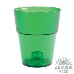 """Кашпо для цветов """"Коло"""", D135 мм, зеленое"""