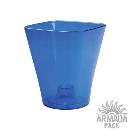 "Кашпо для орхидей ""Кватро"", D130 мм, синее"