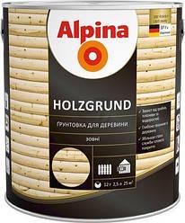 Средство деревозащитное Alpina holzgrund грунт  2,5л