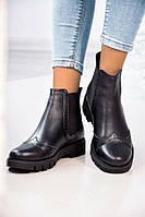 Ботинки кожаные женские Челси
