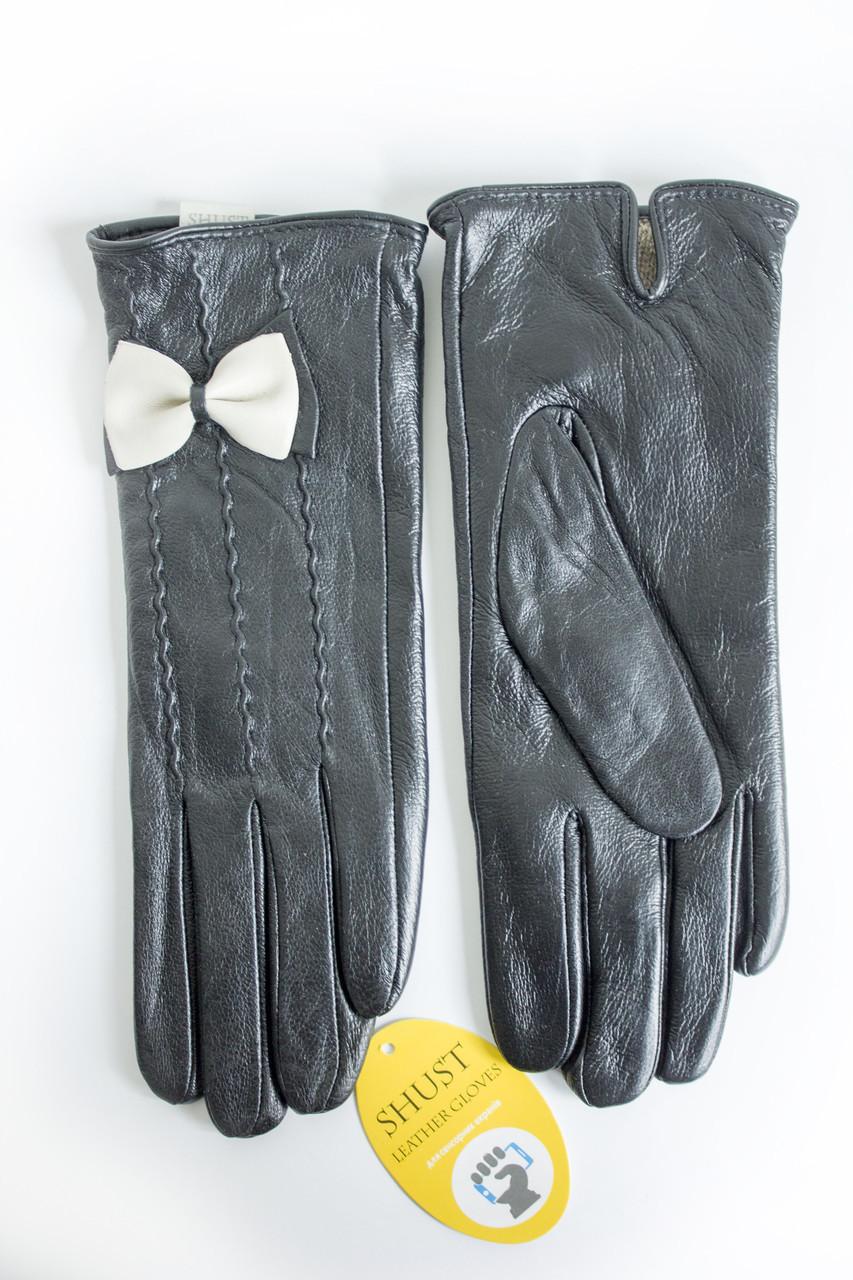 Женские кожаные перчатки ВЯЗКА СЕНСОРНЫЕ Средние WP-161493s2