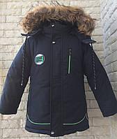 Куртка зимняя на мальчика со змейкой 86-104 черный, фото 1