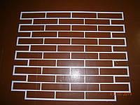 Кирпич декоративный многоразовый трафарет из пластика кирпич 205×50мм форма декоротивной кладки под кирпичики