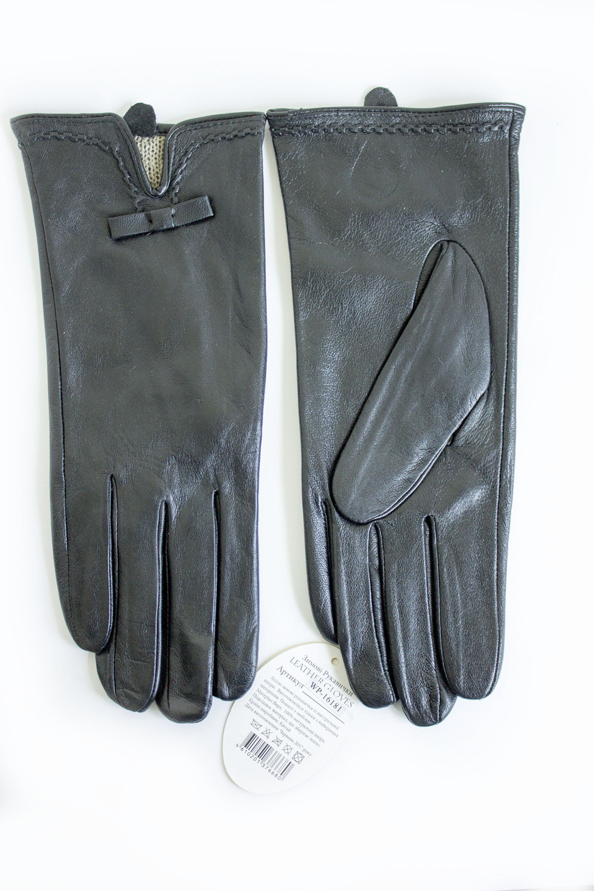 Женские кожаные перчатки КРОЛИК СЕНСОРНЫЕ Средние WP-161814s2