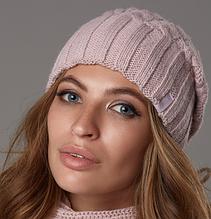 Женская теплая вязаная шапка  003W