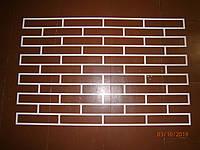 Гипсовый кирпич многоразовый трафарет из пластика кирпич 250×50 мм Трафарет для штукатурки