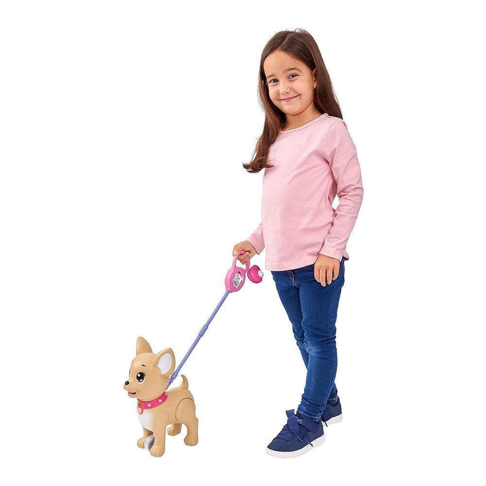 Собачка на поводке игрушечная собака ПуПу Чичи лав Chi Chi Love Simba 5893264