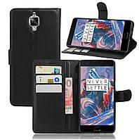 Чехол-книжка Litchie Wallet для OnePlus 3 / 3T Черный