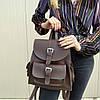 """Городской рюкзак коричневый """"Агапия Brown"""""""