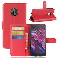 Чехол-книжка Litchie Wallet для Motorola Moto X4 XT1900 Красный
