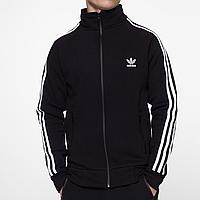 Олимпийка мастерка мужская теплая Adidas черная