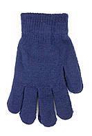 Женские трикотажные перчатки вязаные 5067-2 синий