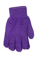 Женские трикотажные перчатки вязаные 5067-5 фиолетовый