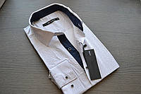 Модная приталенная молодежная рубашка BAZZOLO (размер M.L.XL)