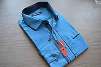 Модная приталенная молодежная рубашка BAZZOLO (размер L)