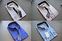 Модные приталенные молодежные рубашки BAZZOLO с узорами и рукавом-трансформером