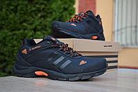 Мужские кроссовки Adidas Climaproof , кожа, черные с оранжевым.