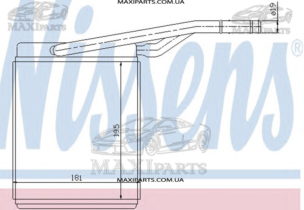 Радиатор печки салона FOCUS I (CAK) (98-) Nissens 71747