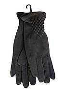 Женские стрейчевые перчатки Черные Средние, фото 1