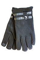 Мужские зимние перчатки + кролик  Сенсорные Средние, фото 1