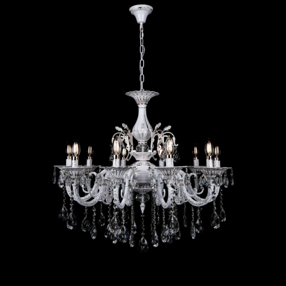 Классическая люстра-свеча на 10 лампочек СветМира VL-3307/10B (FGW)