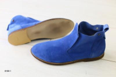 Женские ботинки велюровые синие 38