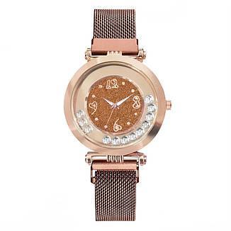 """Женские наручные часы на магнитной застежке """"Yolako"""" (коричневый), фото 2"""