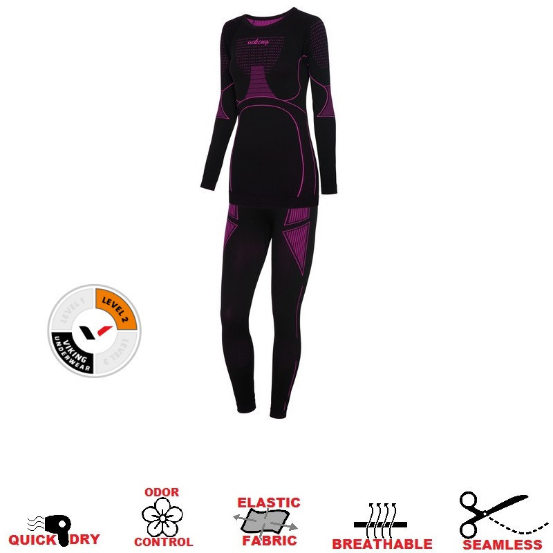 Термобелье VIKING Etna Set 2020 women L pink 500213090-2