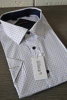 Мужская рубашка с коротким рукавом FERRERO GIZZI (размеры 41.42.43.44.45.46 + под заказ)