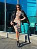Стильное платье с принтом, ткань:тепленький трикотаж. Размер: С(42-44)М(44-46). Цвет:бежевый. (1213), фото 9