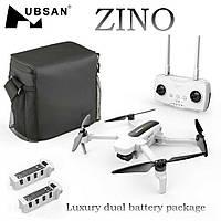 Квадрокоптер Hubsan Zino H117S (сумка + 2 аккумулятора) с GPS и 3-х осевой 4K Камерой Белый