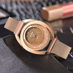 """Женские наручные часы на магнитной застежке """"Yolako"""" (золотистый циферблат)"""