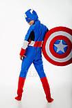 Детский карнавальный костюм для мальчика Капитан Америка 122-128р, фото 2
