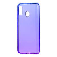 Чехол для Samsung Galaxy A20 / A30 Gradient Design фиолетово-синий