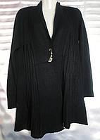 Кардиган однотонный женский полубатальный (ПОШТУЧНО), фото 1