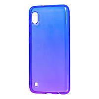 Чехол для Samsung Galaxy A10 (A105) Gradient Design фиолетово-синий