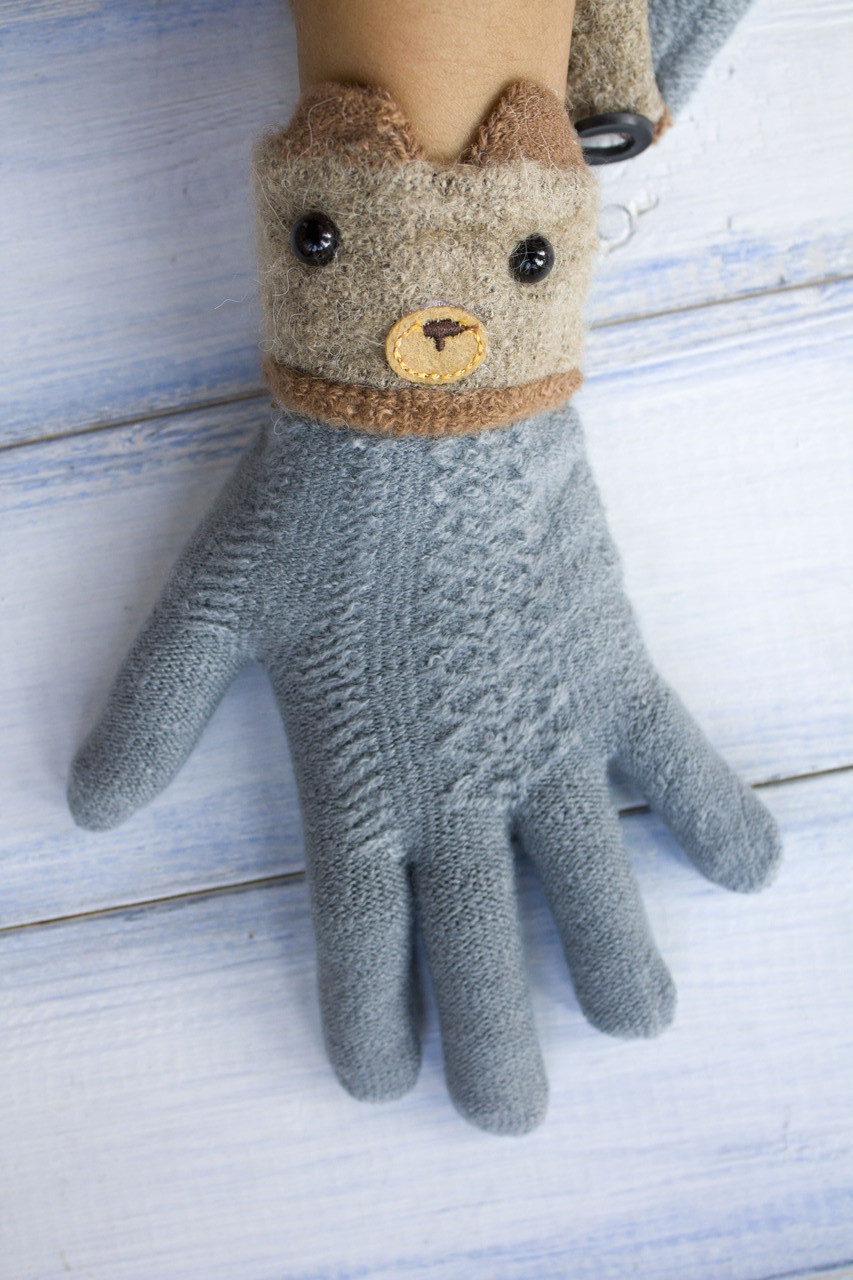 Детские перчатки Мишка
